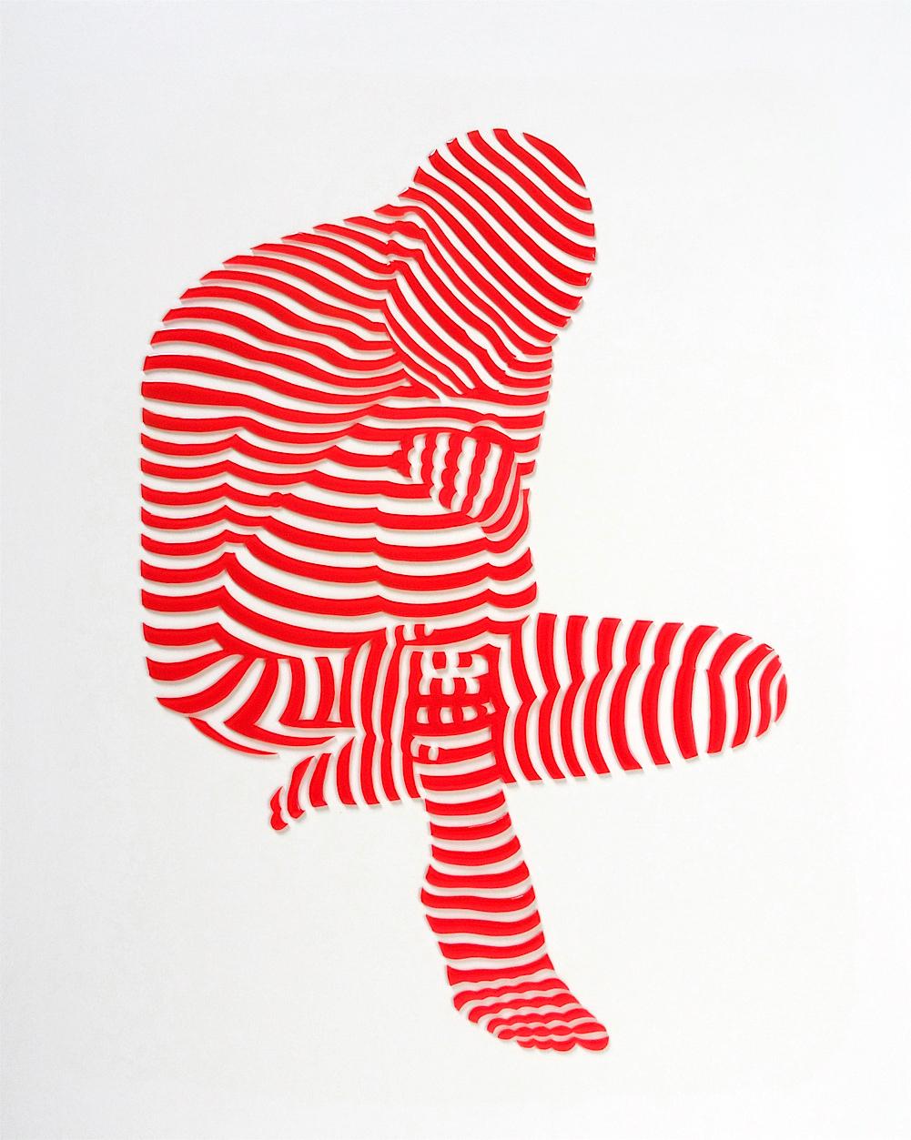 "StripePose Study#82. 20""x16""x1.5"""