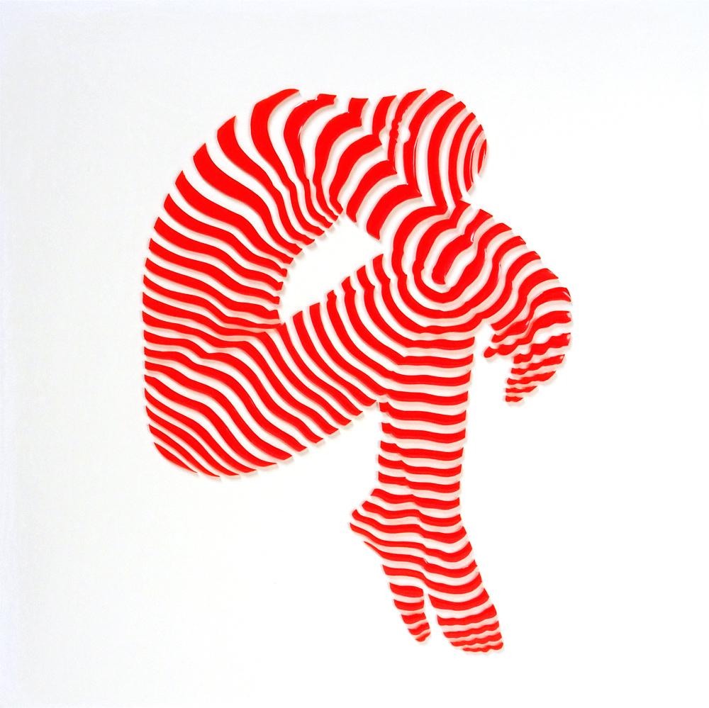 """Copy of StripePose Study#86. 12""""x12""""x1"""""""