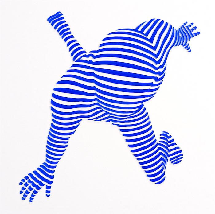 "StripePose Study #102. 12""x12""x1"""
