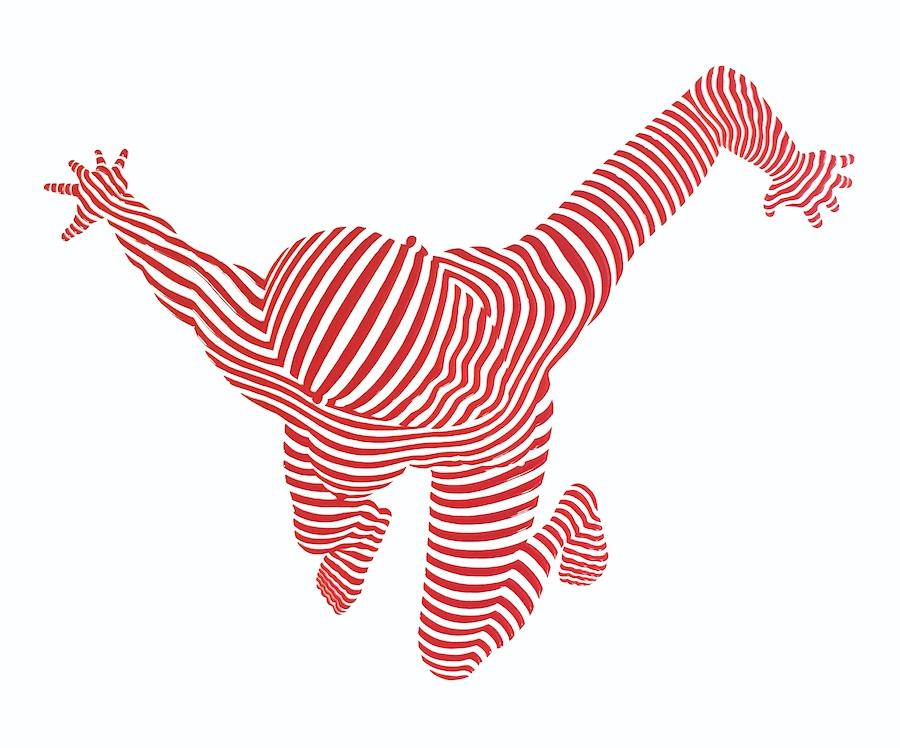 "StripePose #19. 24""x30""x1.5"""