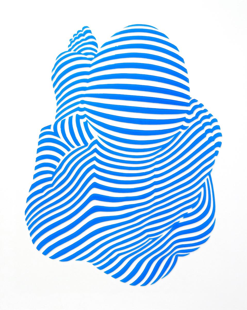 "StripePose #35. 30""x24""x1.5"""