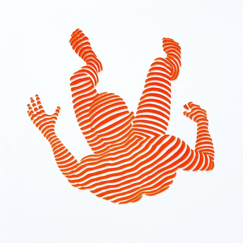 "StripePose Study#109. 12""x12""x1.5"""