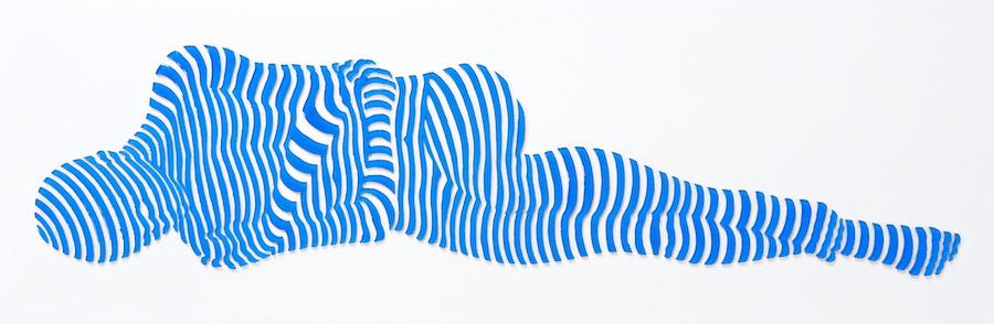 "StripePose Study#107. 6""x18""x1.5"""