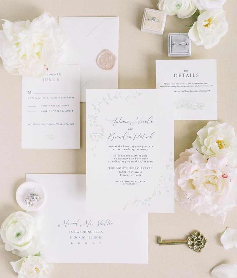 Custom Wedding Invitations -