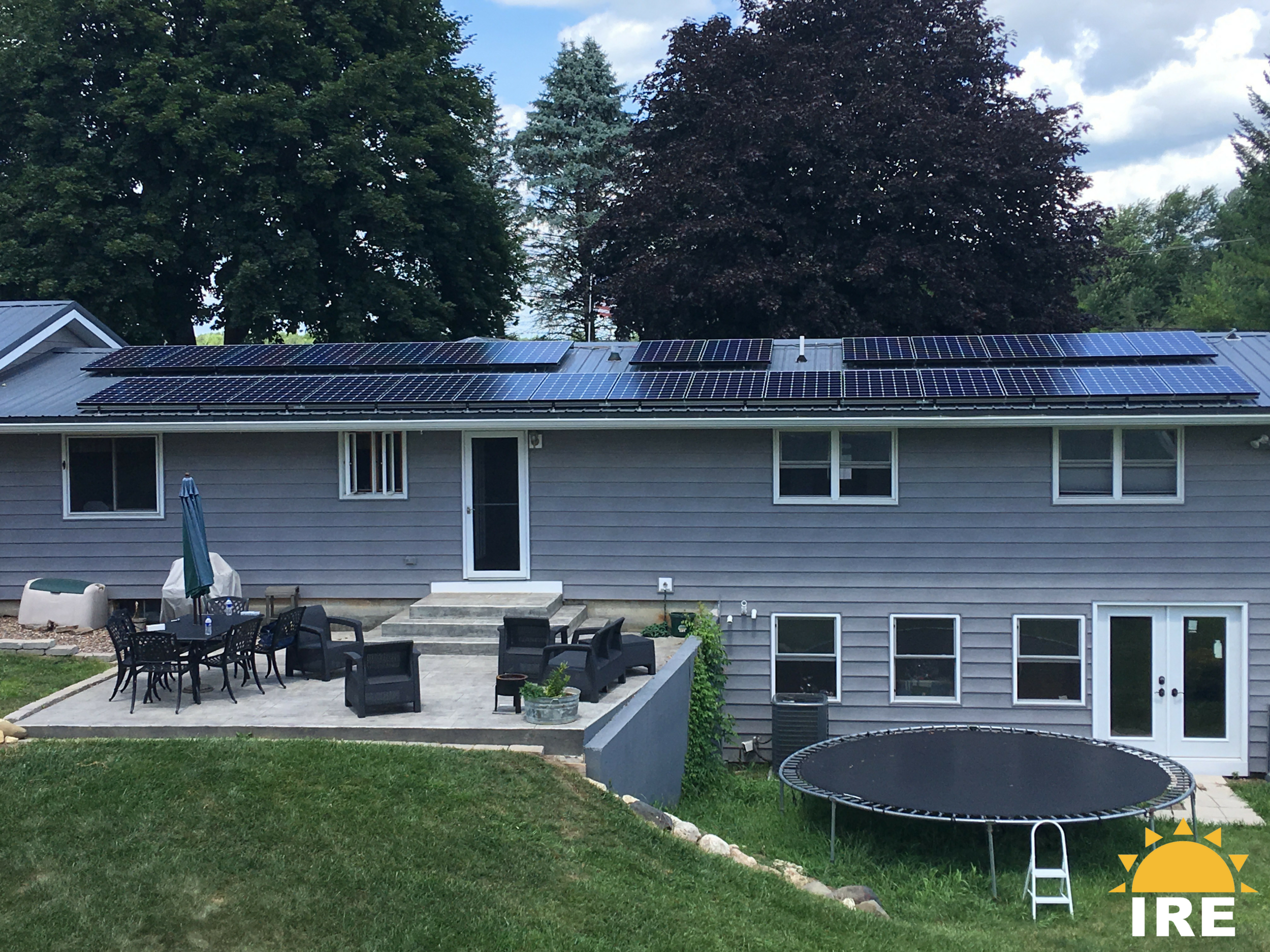 29 panel installation on a metal roof.