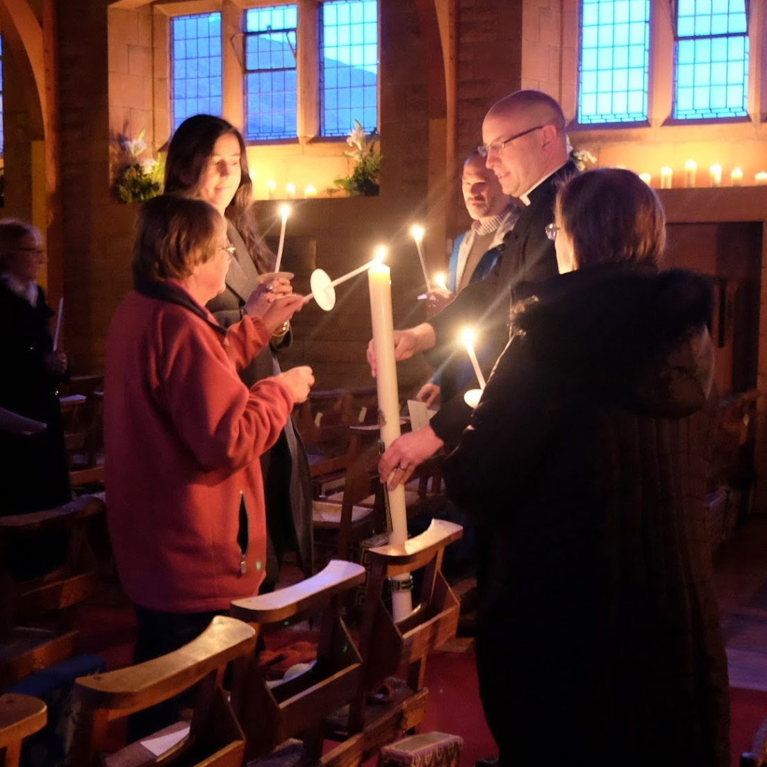 Easter Vigil at St. Ninians (Photo by Linda Rayner)