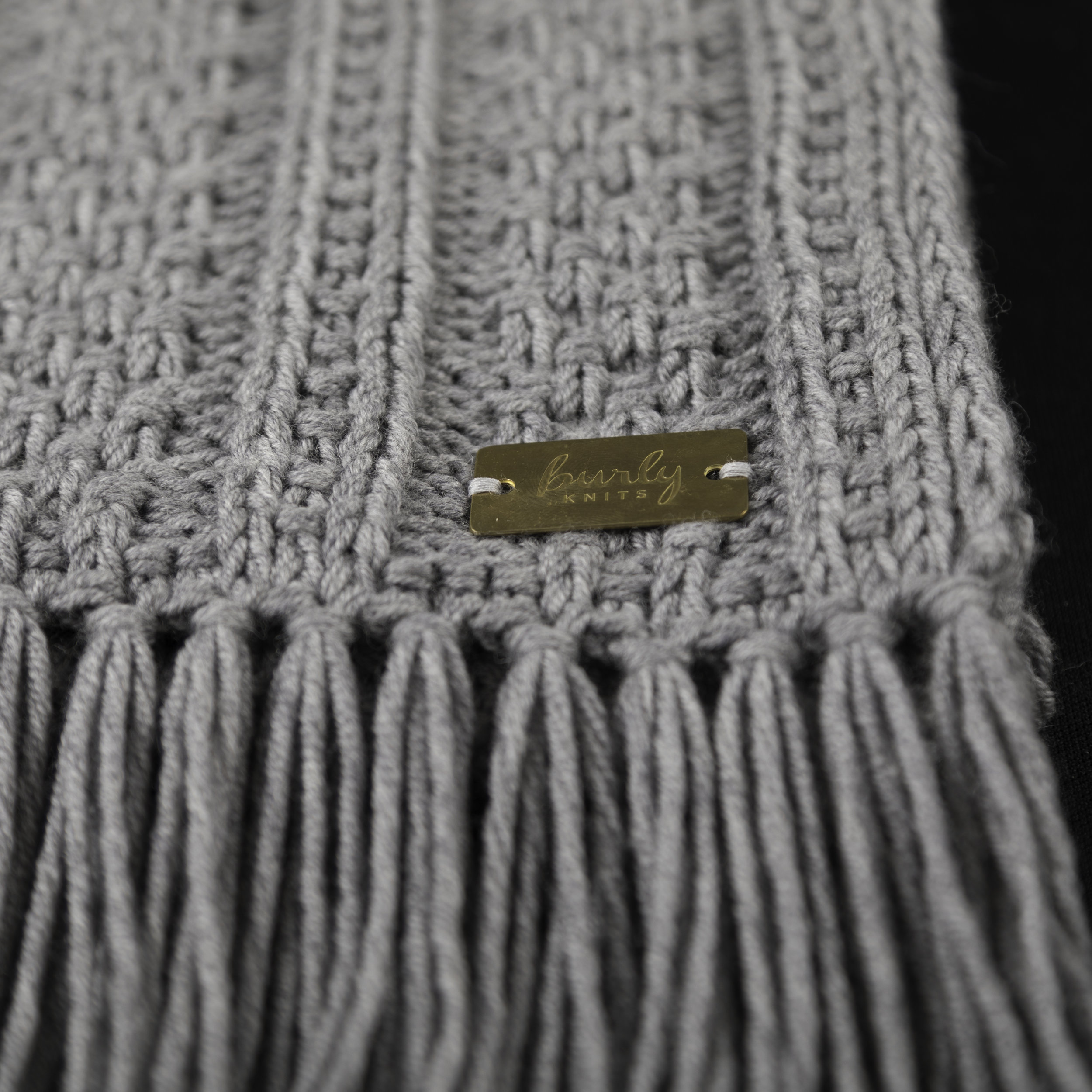 Textured Stripes Scarf - light heathered grey