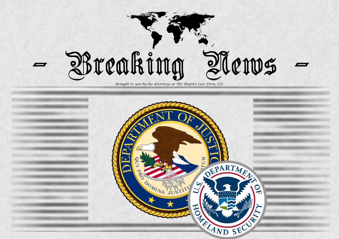 Breaking News - U.S. Department of Justice edition