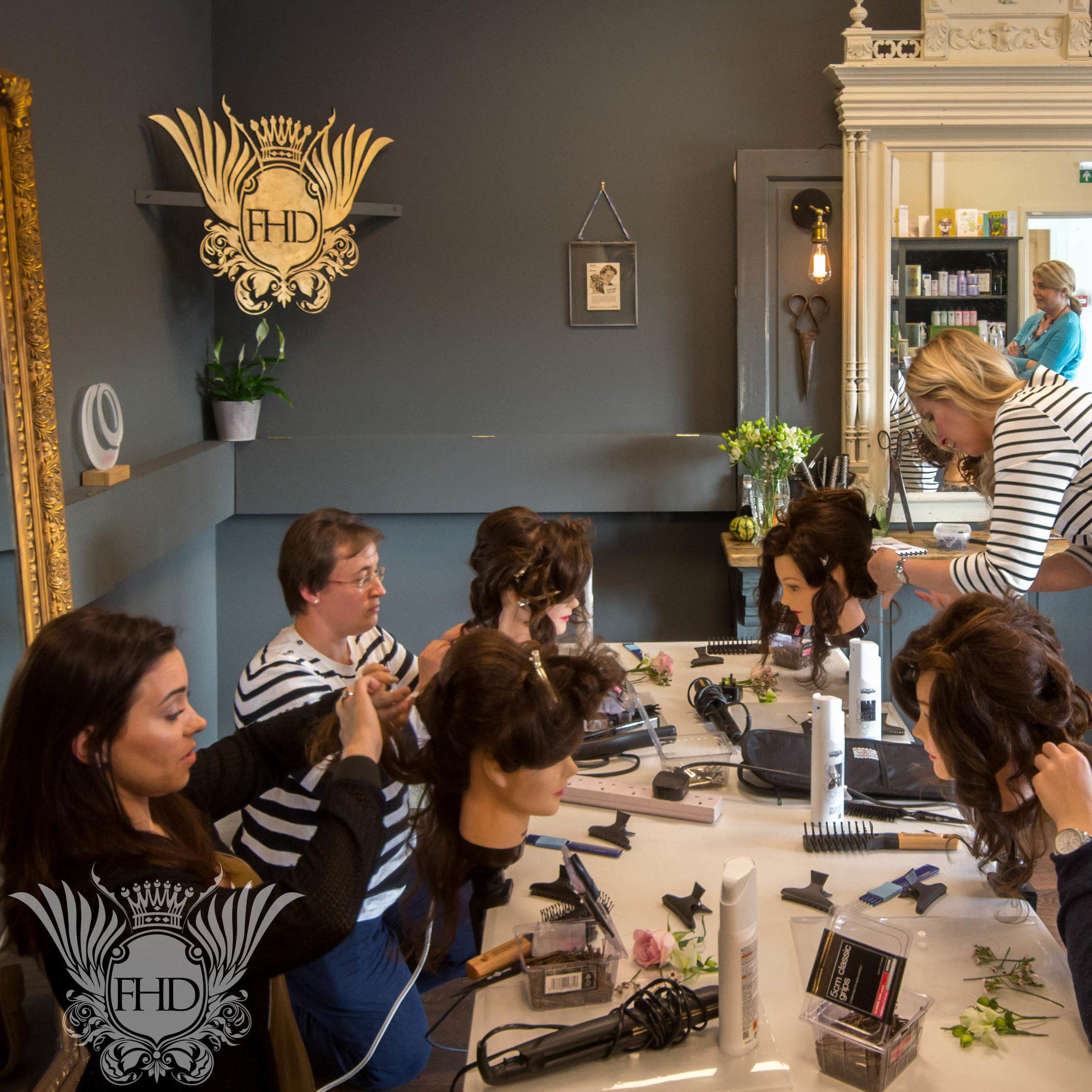 Bridal Hair Training -