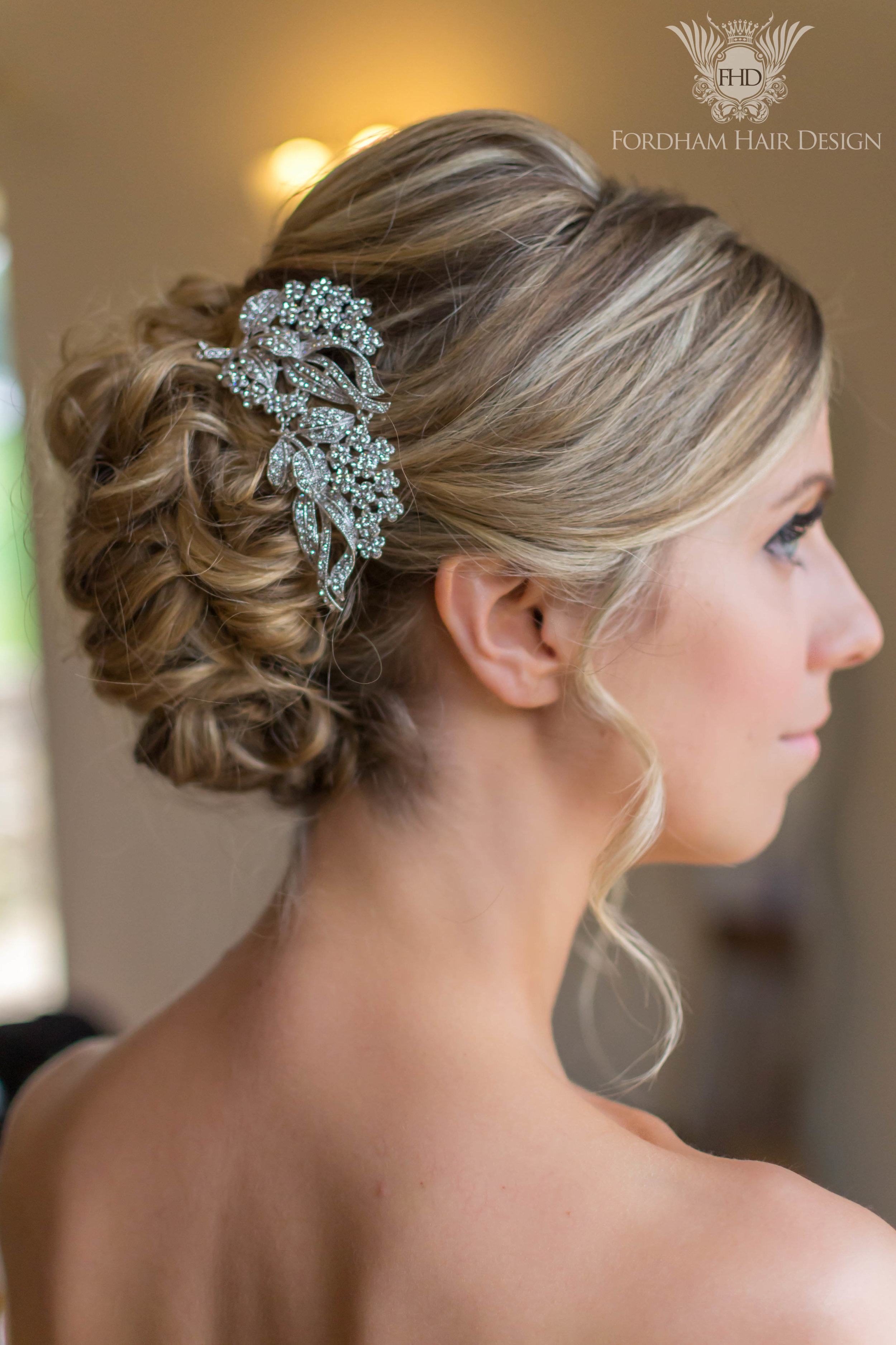 Curly wedding up do