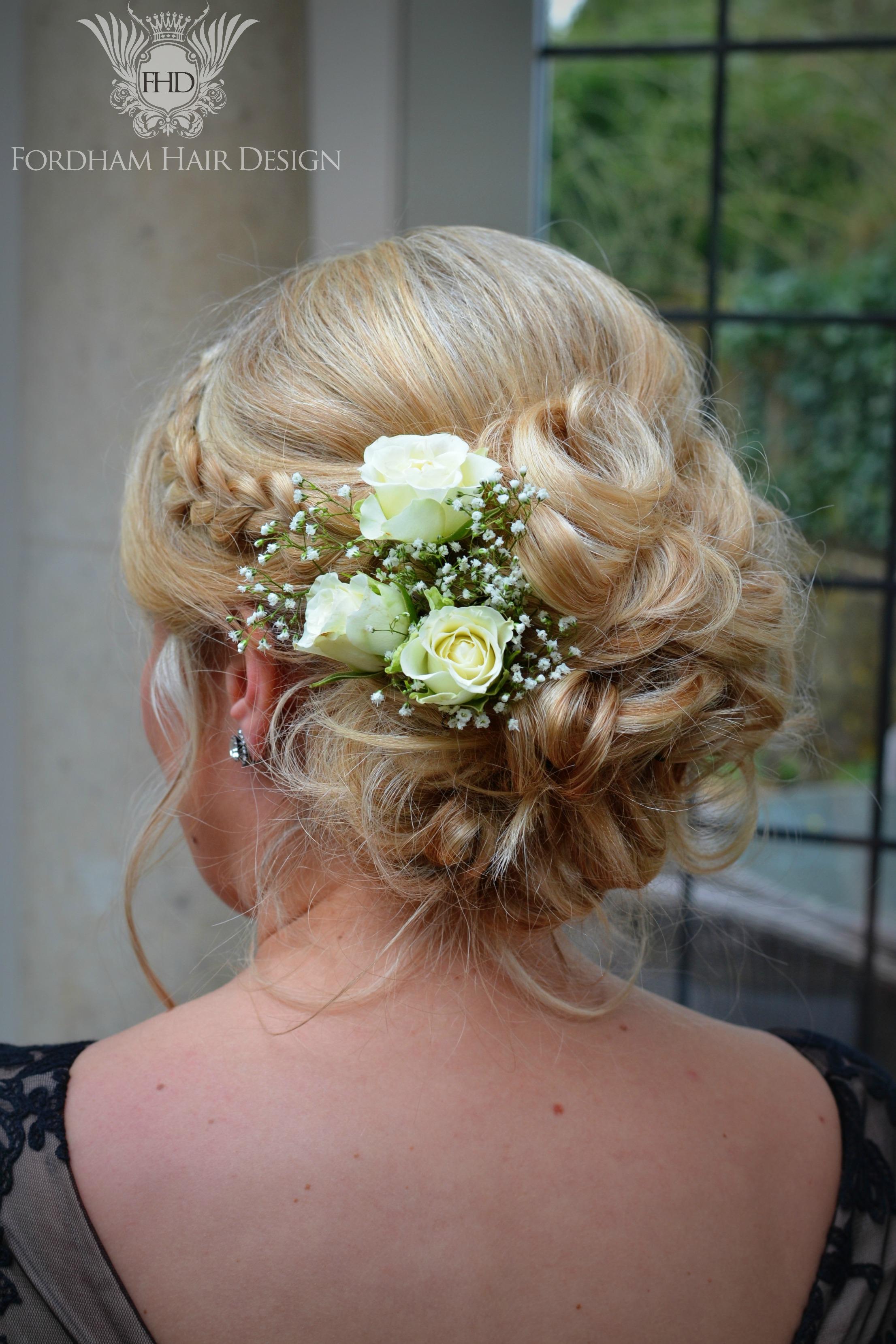 Barnsley House Wedding Hair