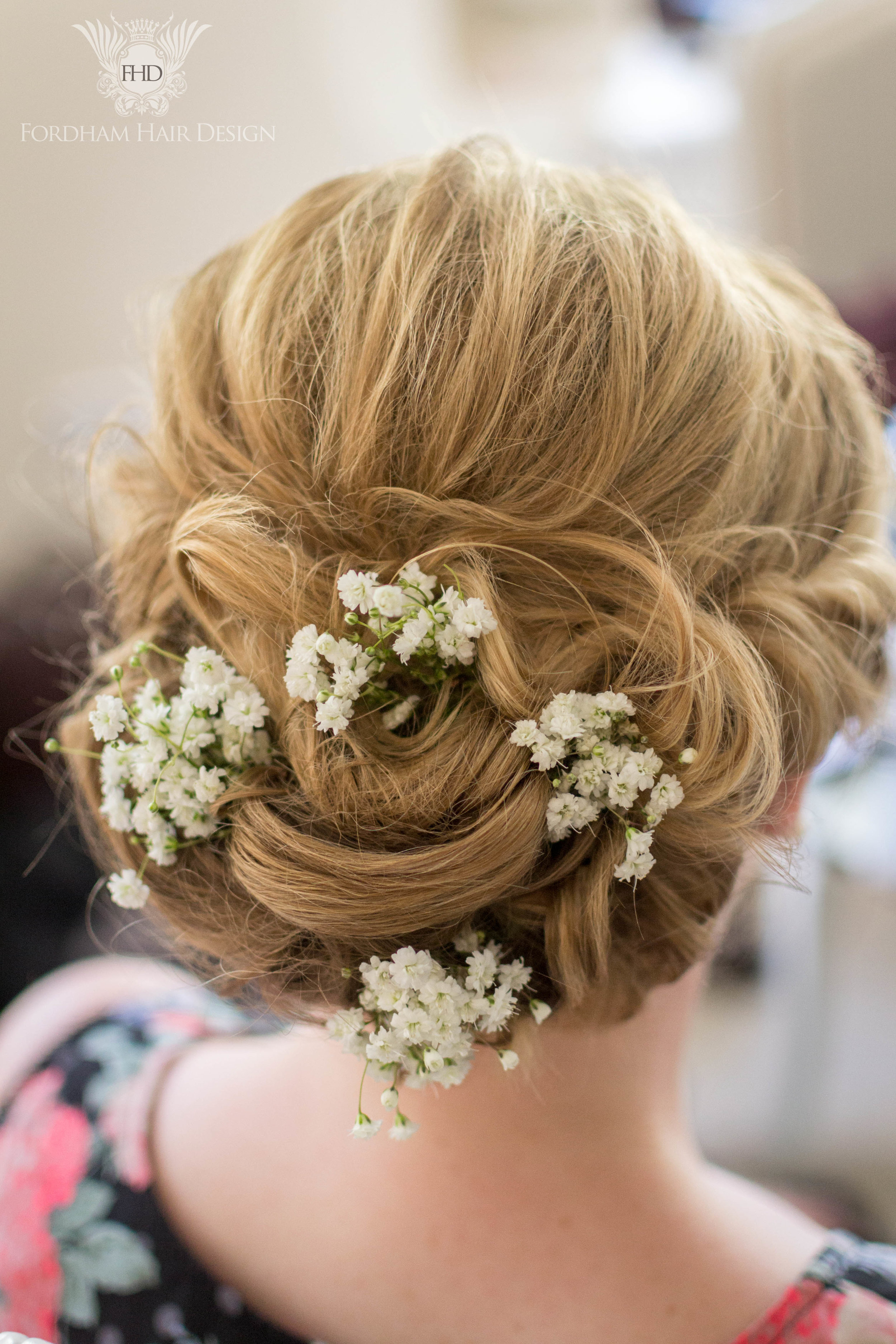 Messy Updo Wedding Hair