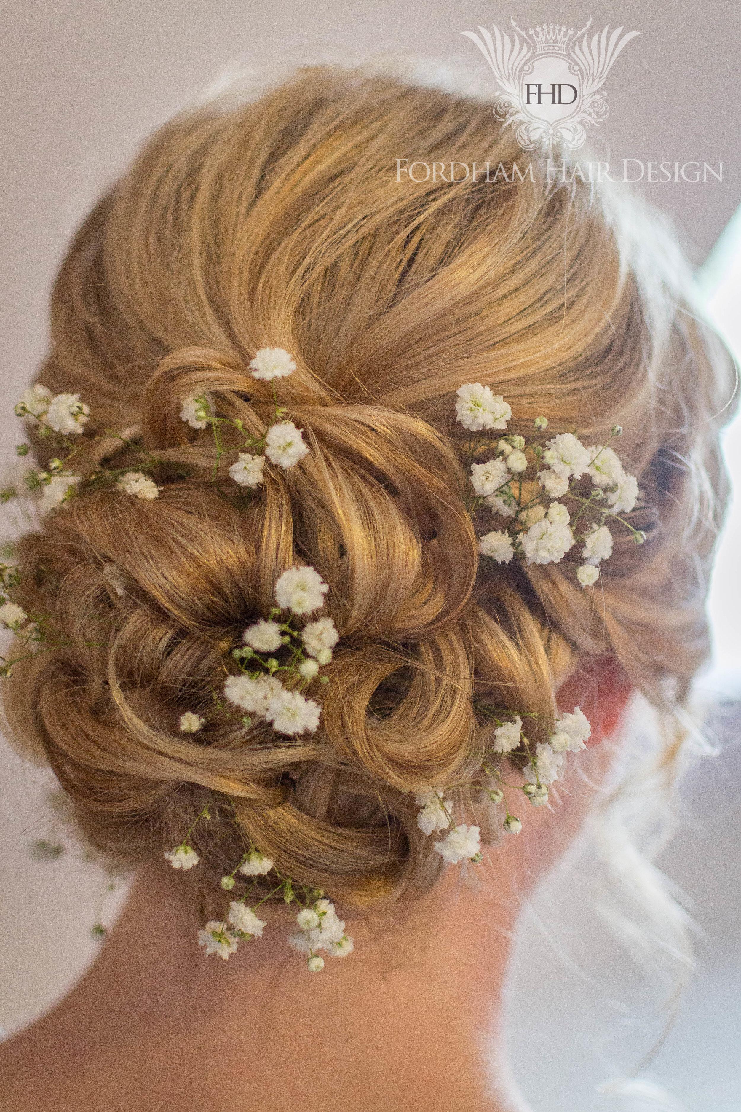 Tousled wedding hair