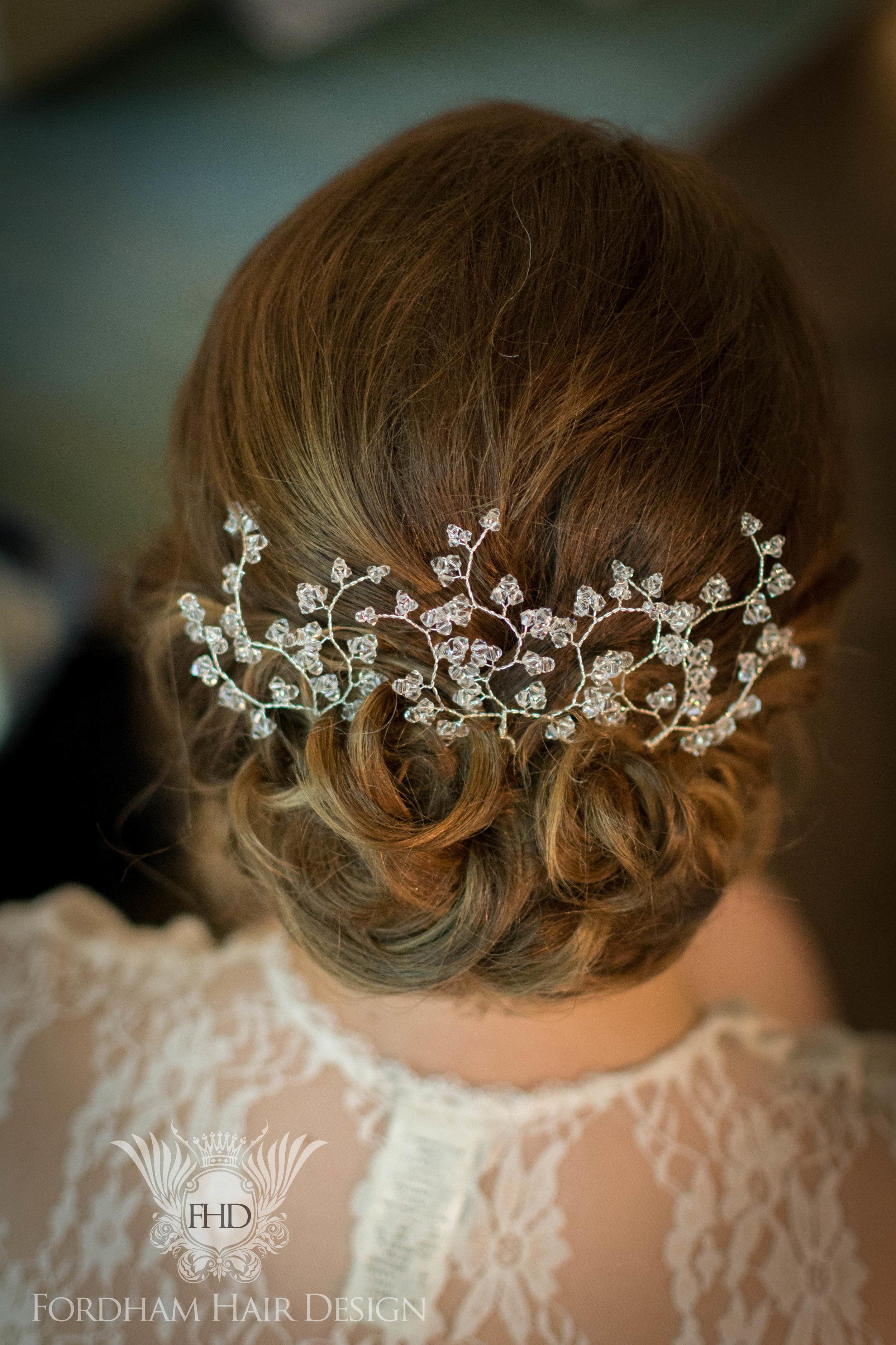 Flowers in wedding hair