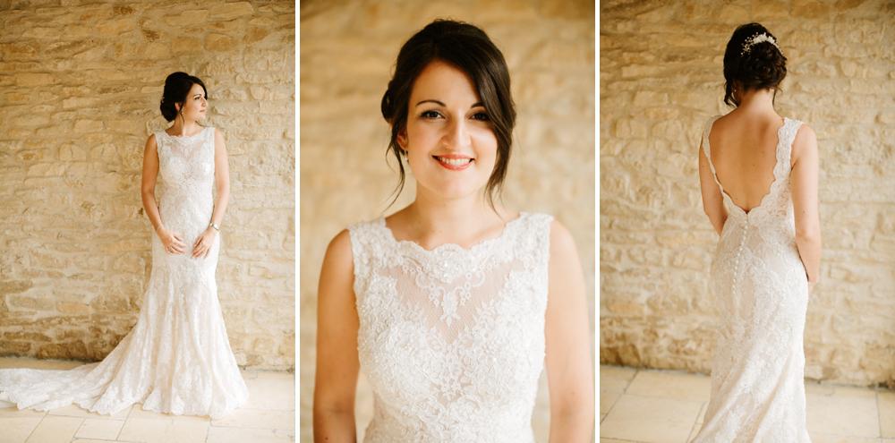 Kingscote Barn Bride