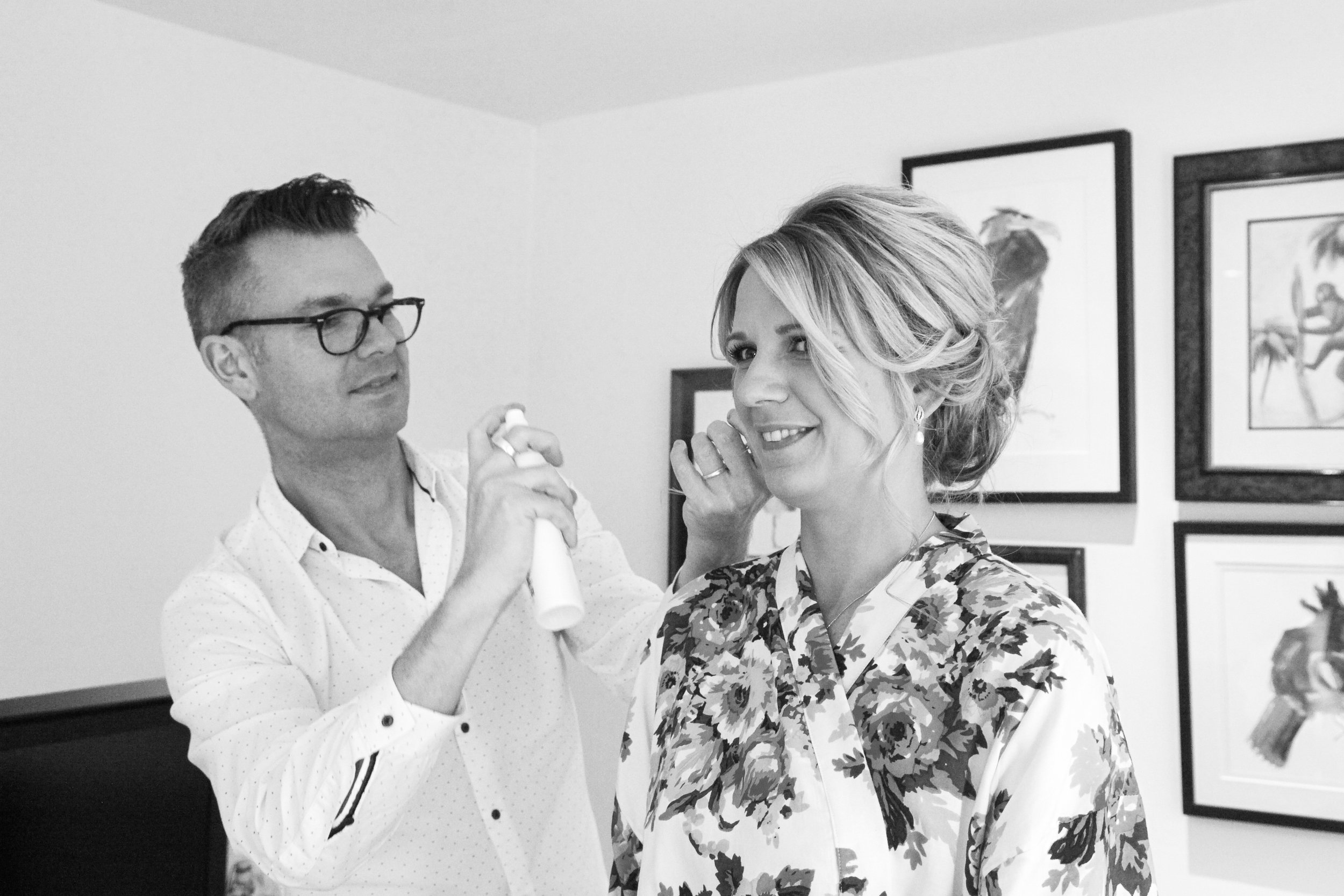 cotswold wedding hairdresser