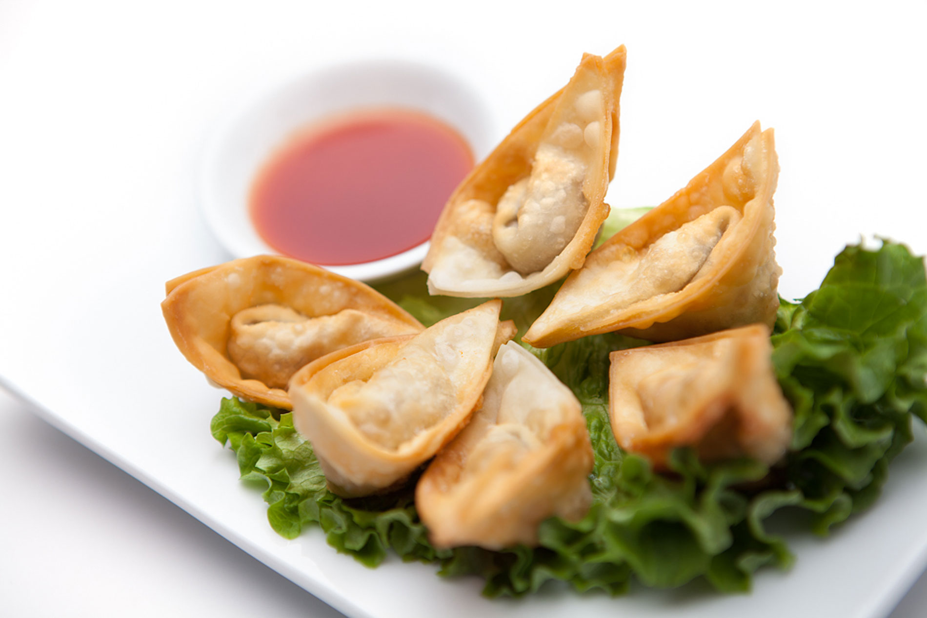 Fried wontons from Loma House, a vegetarian and vegan-friendly restaurant in south Edmonton.