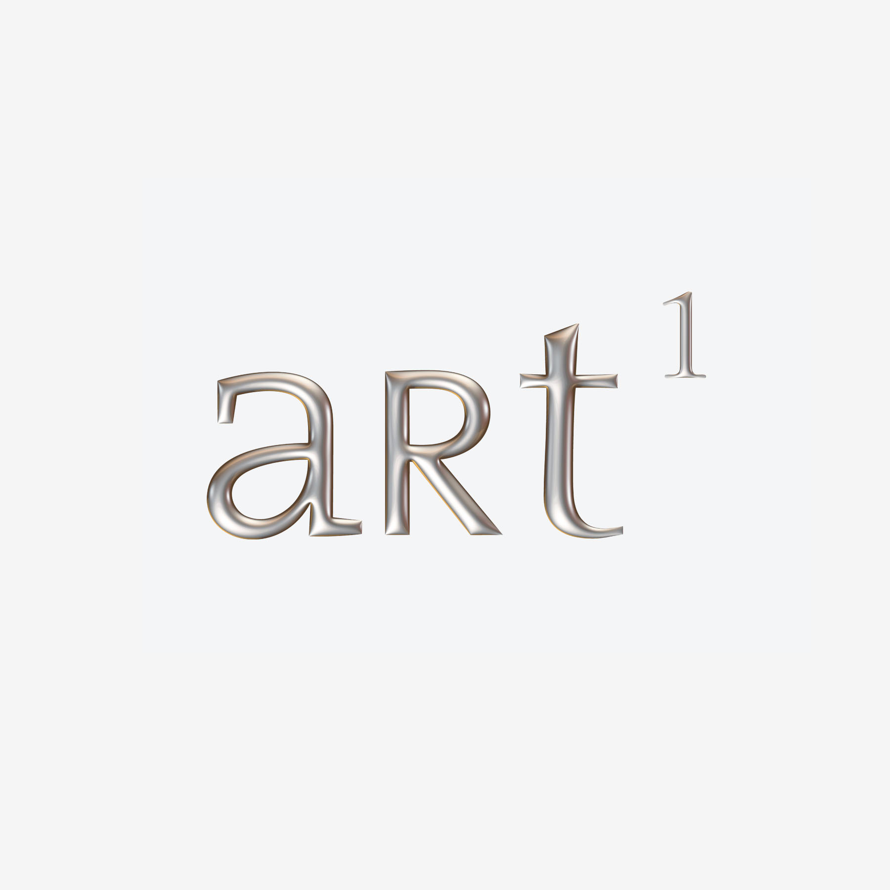 Art 1 - An online website for eclectic curated items with an emphasis on art, and also a 1stDibs shop, this logo was a collaboration on the existing logo, by our addition of the 3-dimensional silver effect.