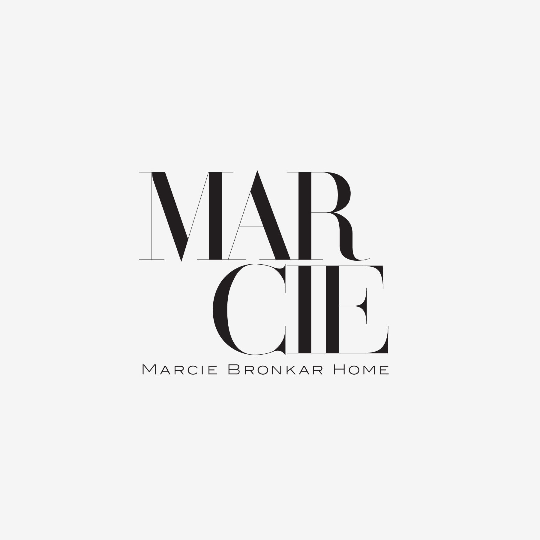 Marcie Bronkar - This logo was created for a textile, wallcoverings and interior designer, to encompass an overall brand for HOME, focusing on product development for licensing and guest collections.