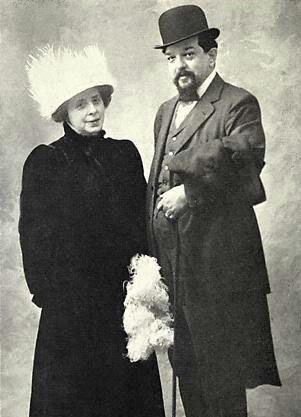 Claude Debussy alongside his wife Emma Bardac