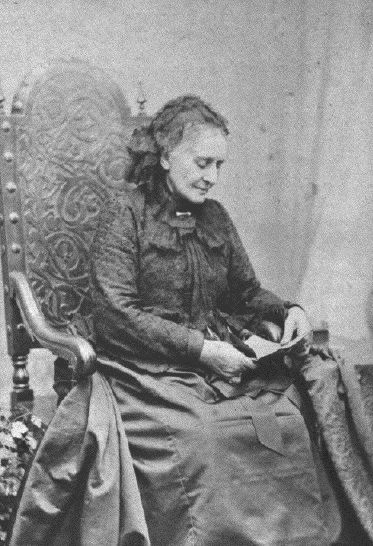 Clara Schumann…is she reading a letter from Brahms?