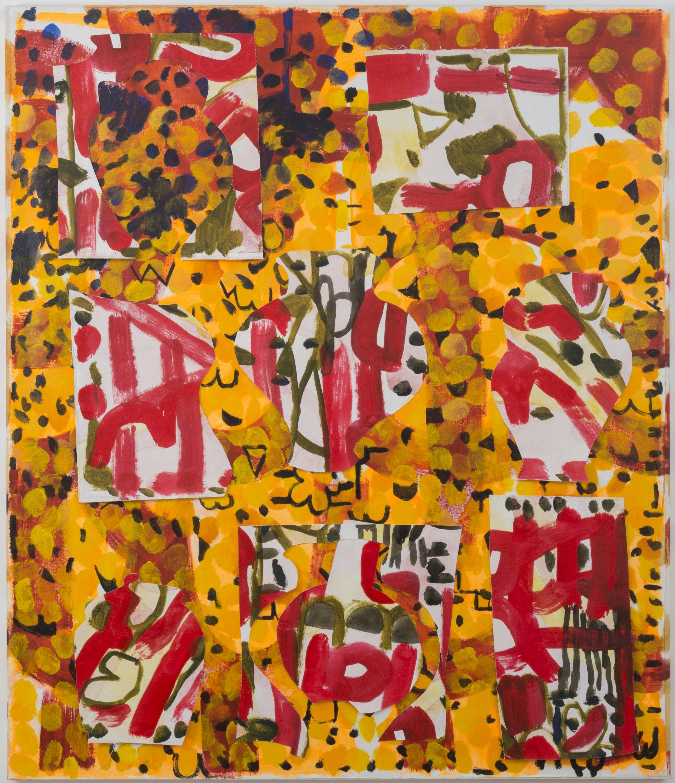 May 2, 2016 / Acrylic, Glue, Canvas / 72 x 84 x 1 1/2 inches