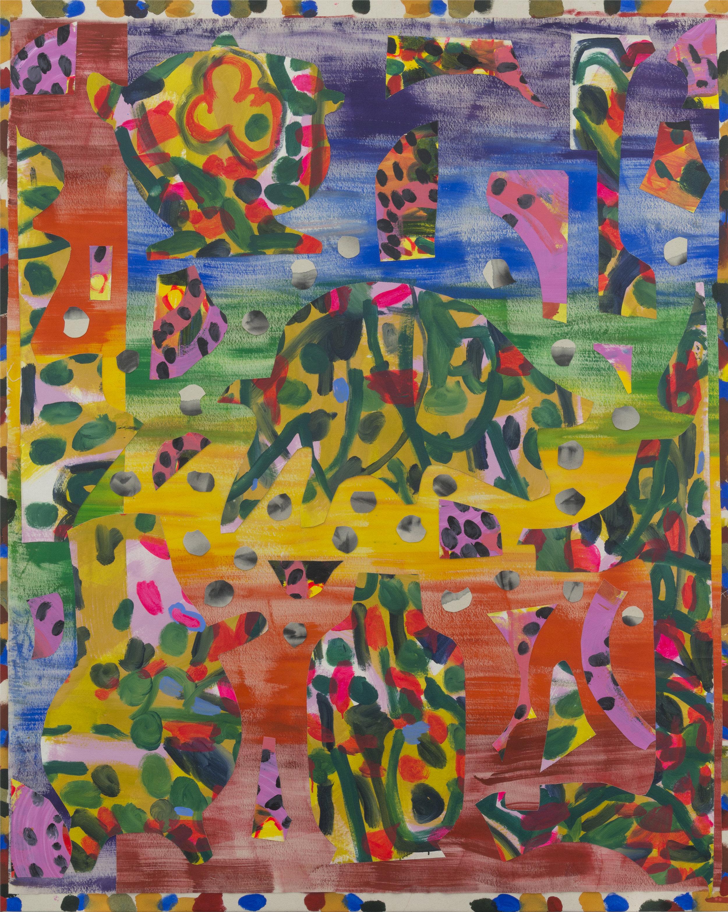 June 3, 2016 / Acrylic, Glue, Canvas