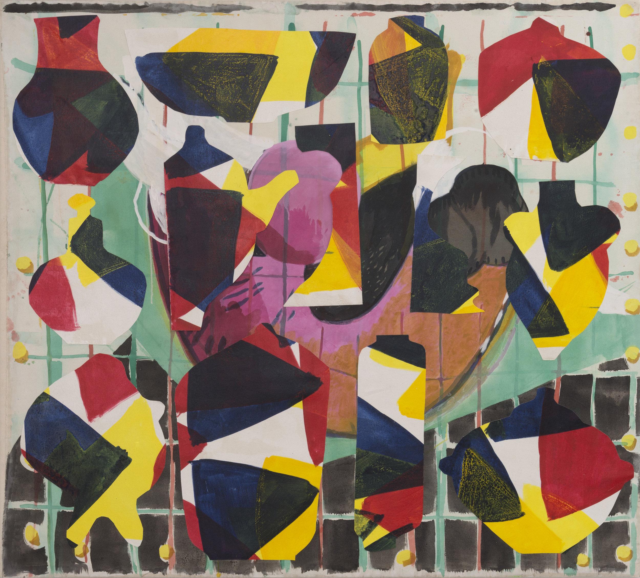 September 5, 2016 / Acrylic, Glue, Canvas / 67 1/2 x 62 inches