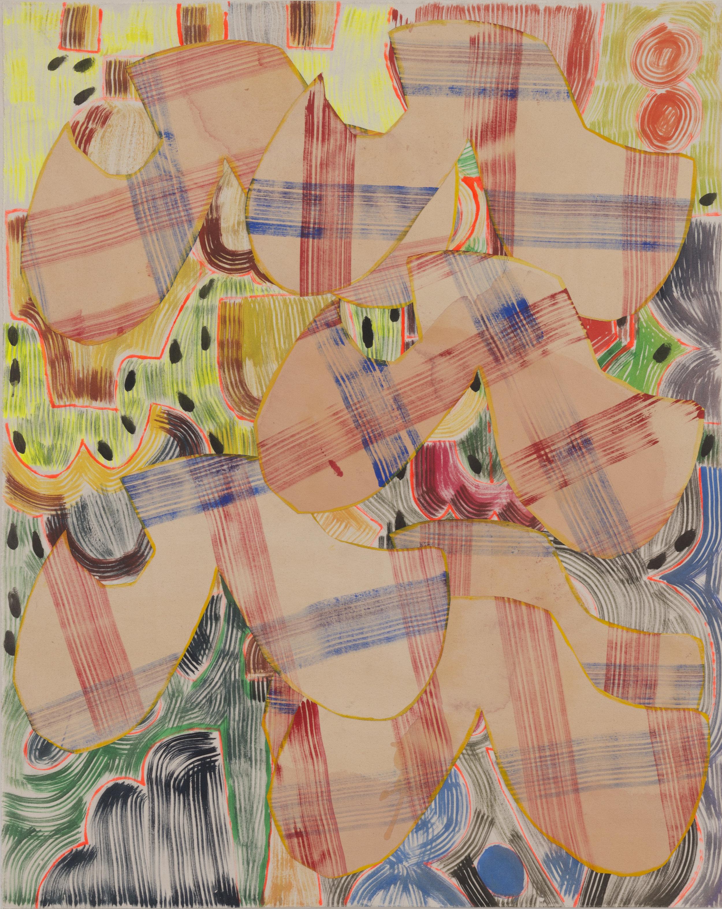 September 10, 2016 / Acrylic, Glue, Canvas / 71 1/4 x 57 1/2 inches