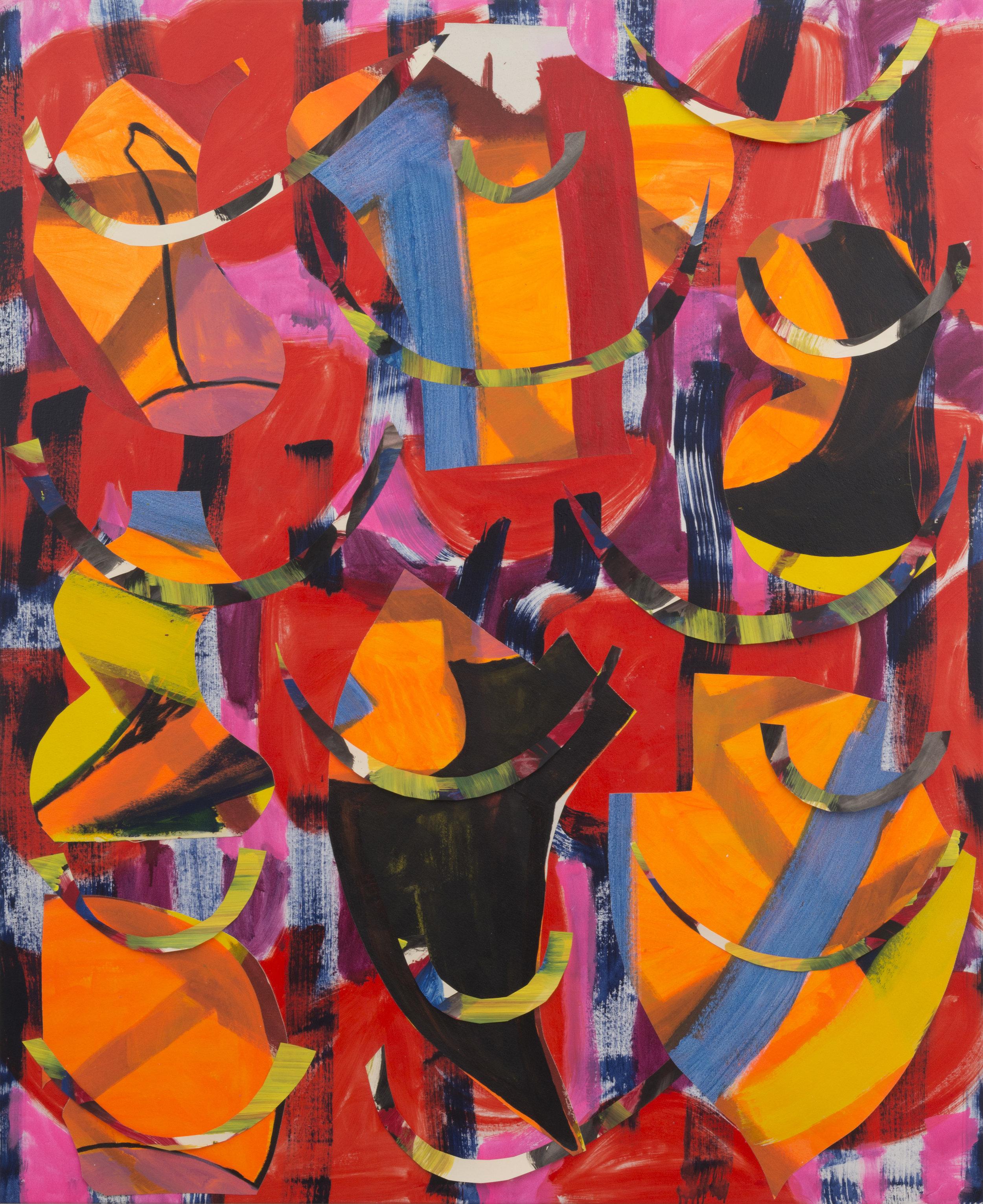 August 21, 2016 / Acrylic, Glue, Canvas / 83 x 68 1/2 inches