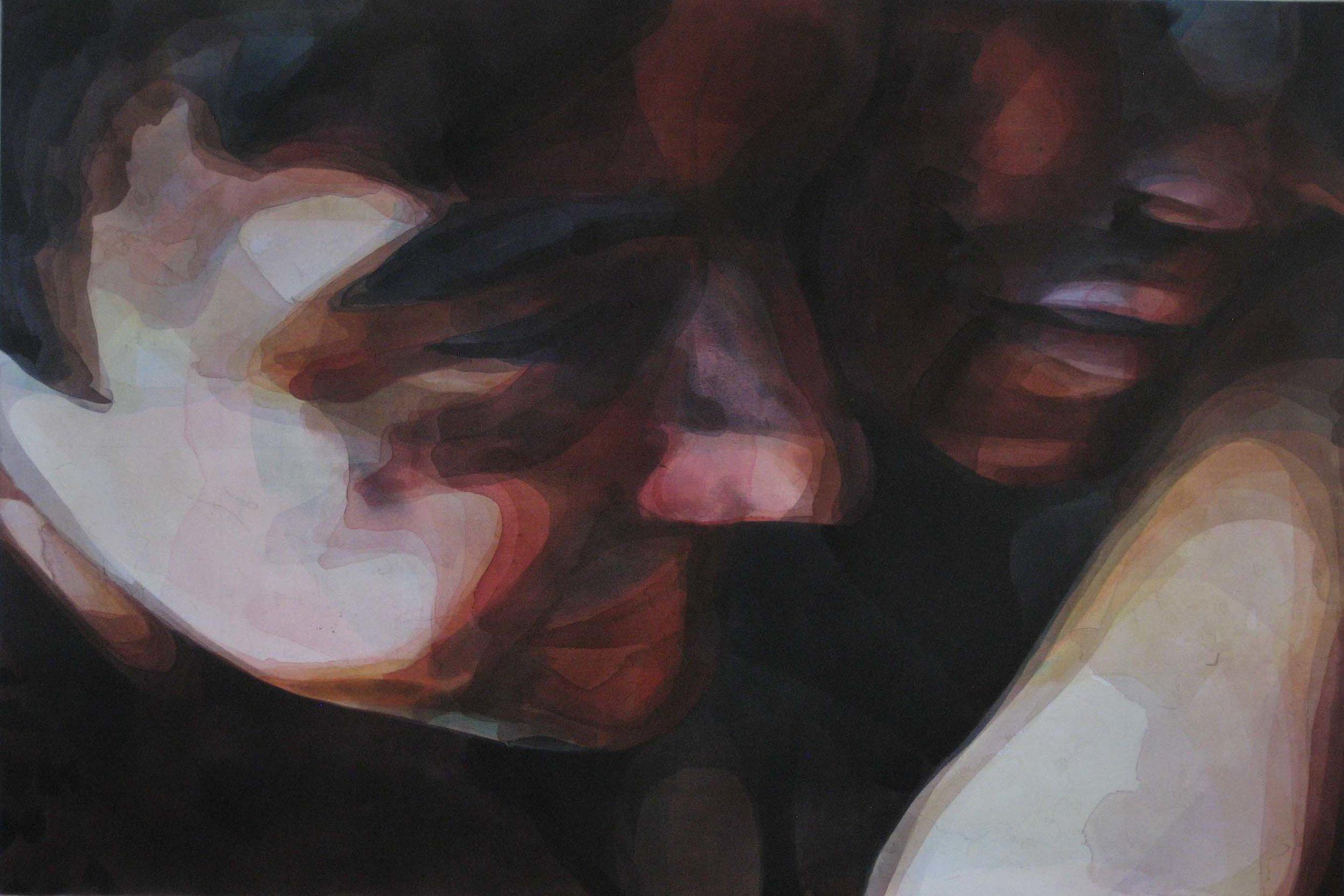 Raphaelle & Chris / 48 x 72 in / acrylic on canvas