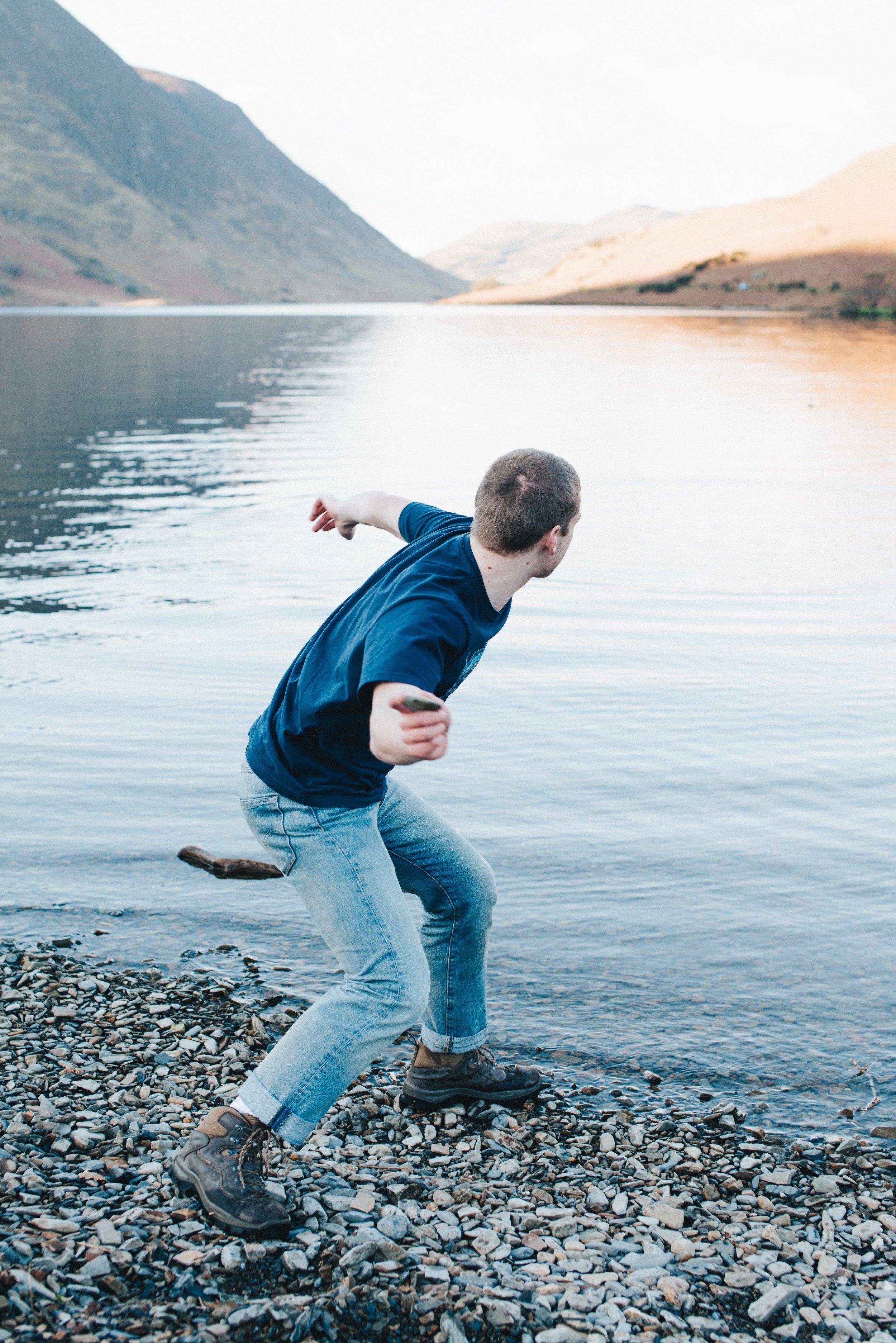 Harry Renton - skipping stones on a calm lake - Hippo Magazine
