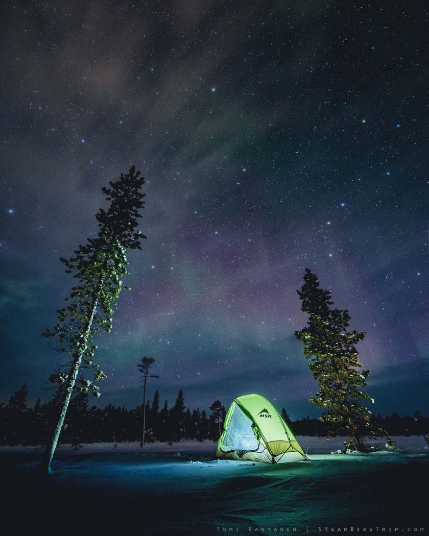 Talvipakkasilla telttailua en kuitenkaan suosittele.