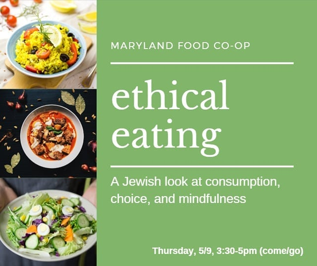 Vegetarianism, veganism, kashrut, eco-kosher, localism…. There are a lot of ways to make morally-informed choices about what and how we eat. During this learning event, we'll be looking at various Jewish sources about food ethics as a way into a discussion about ethical eating on the individual and communal scale. This Thursday, come by anytime between 3:30 and 5pm! (Conversation-provoking snacks provided.)
