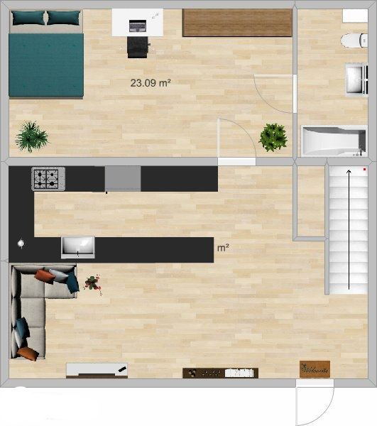 3b/3b 1st Floor Plan -