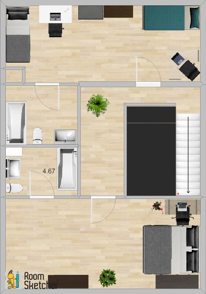 3b/2b 2nd Floor Plan -