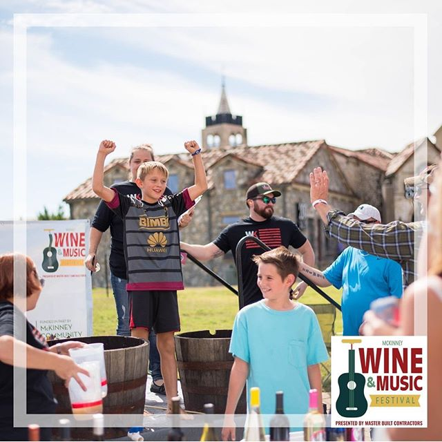 Join us in Dr. Glenn Mitchell Memorial Park for this free family-friendly event! 🥰🥂 There will be grape stomping, kids activities, lots of awesome music, delicious food, and amazing local vendors! Will we see you there? Wine Tasting Ticket link in bio!! #mckinneytx #mckinney #mckinneywineandmusic #grapestomping #mckinneywine #music #mckinneymoms #winetasting #downtownmckinney
