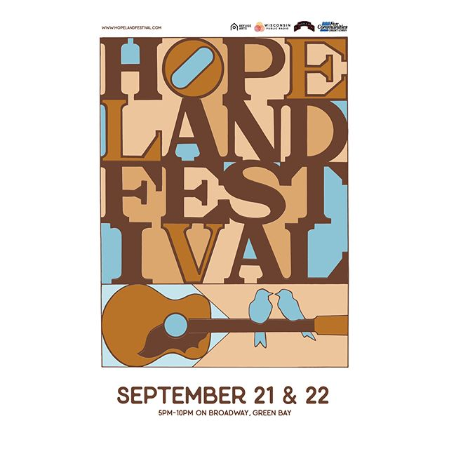 We've been working really hard to bring Green Bay this FREE all ages event today and tomorrow from 5-10pm. 50 live music performances, several public art installations, food, drink and gathering support for our veterans and families. Come hang with us! I play Saturday at 8:20 at the three three five outdoor stage 💛