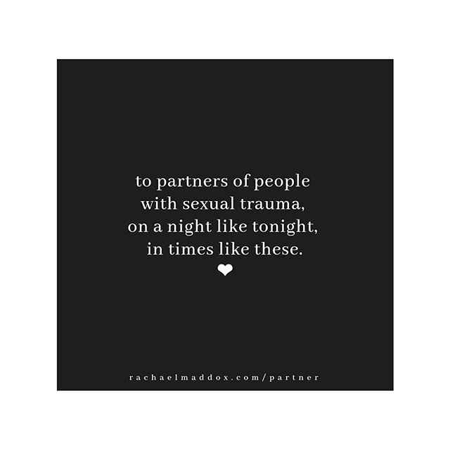 Via @rachaelmaddox and @magamamas // if you feel alone, remember that there are thousands of people in our country feeling the regurgitation of their wounds today. You are not alone. National Sexual Assault Hotline: 800-656-HOPE