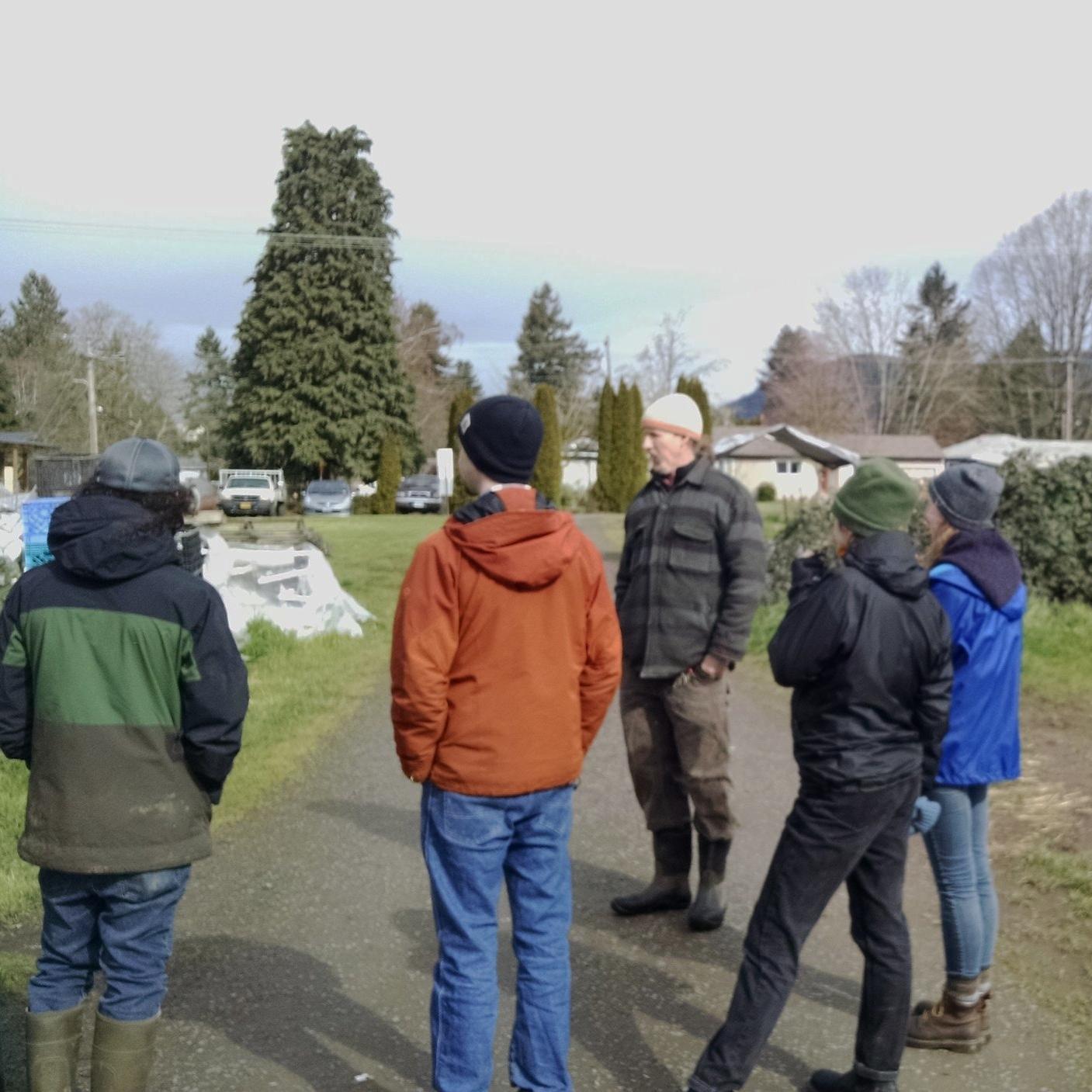 Farm tour with new interns