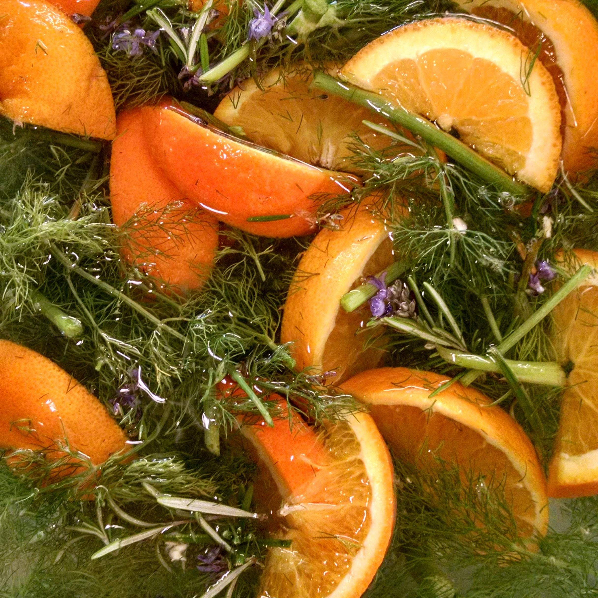 Orange Fennel Rosemary infused water