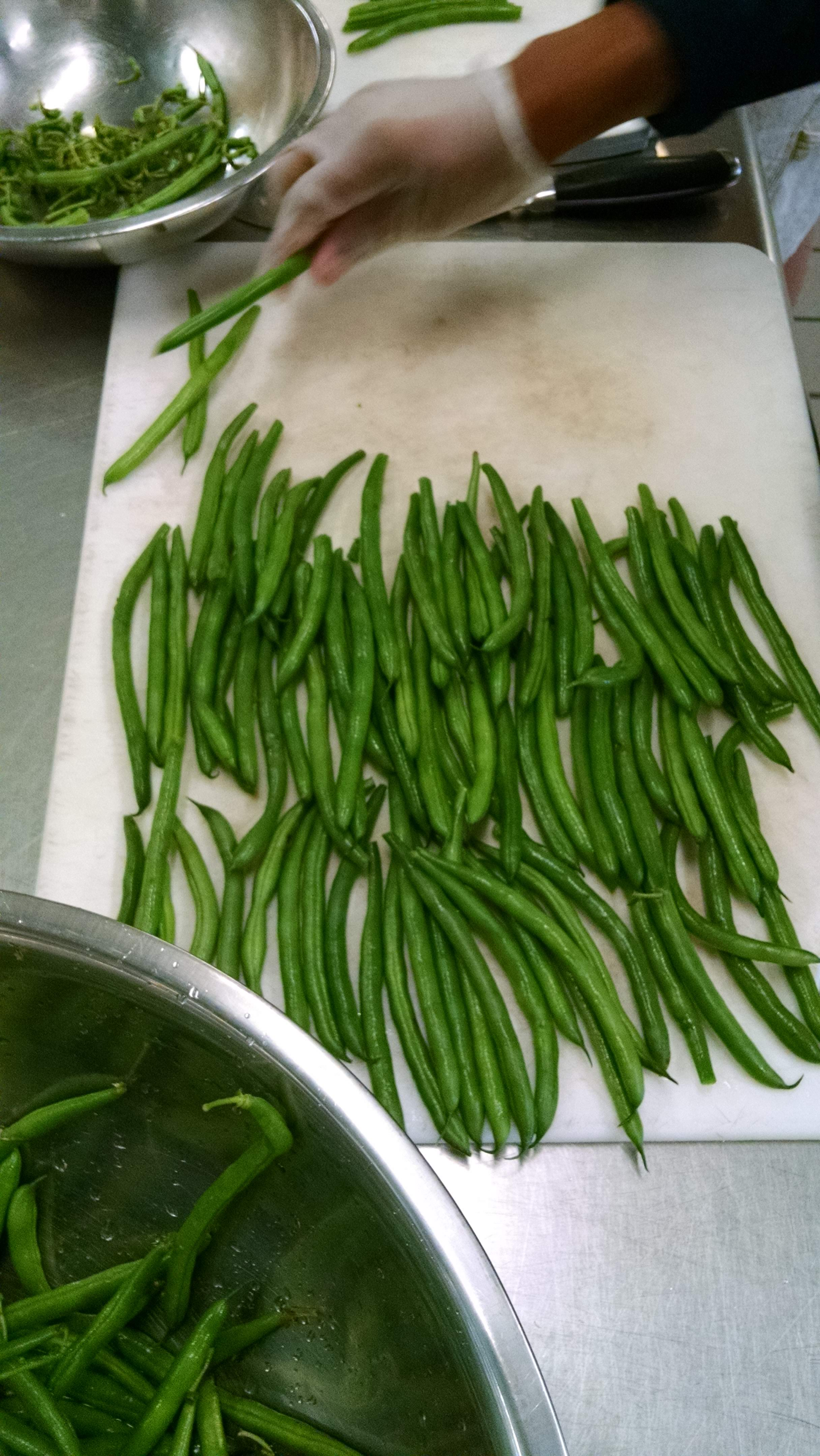 Prepping for dilly beans