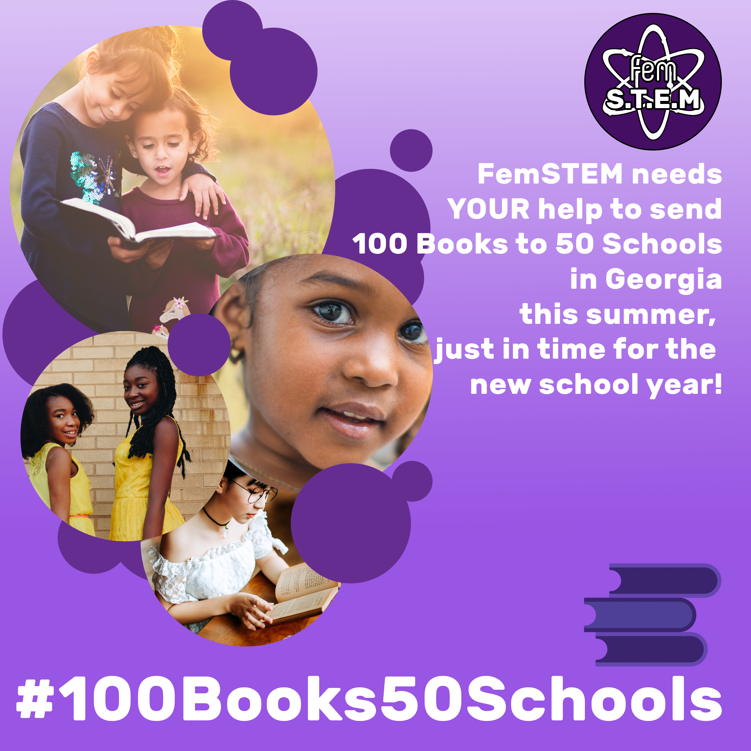 Click here to help us raise money to send 100 books to 50 schools.