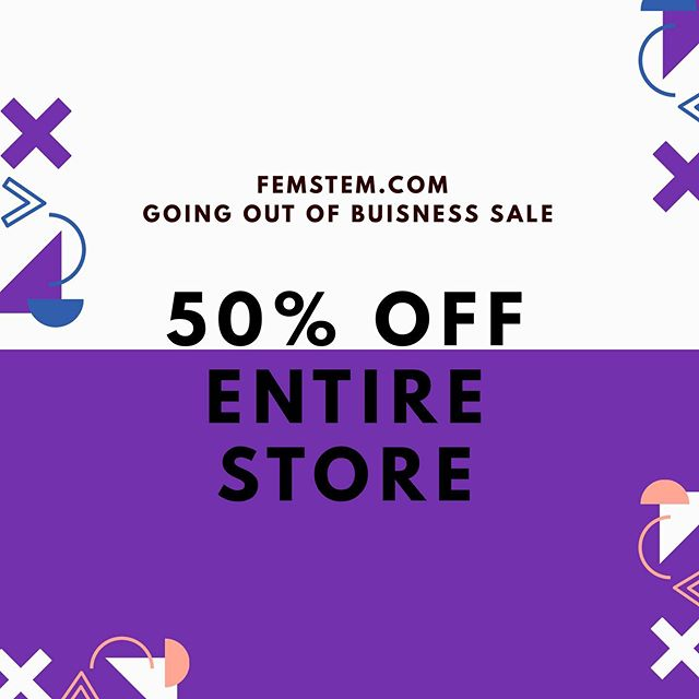 Hey guys!!! I'm shutting down femstem.com because it's no longer sustainable. It was a good run tho! But everything is 50% off if you're interested or know someone who is! We have a book here that I self published, but it was written by @melissacristinamarquez !!