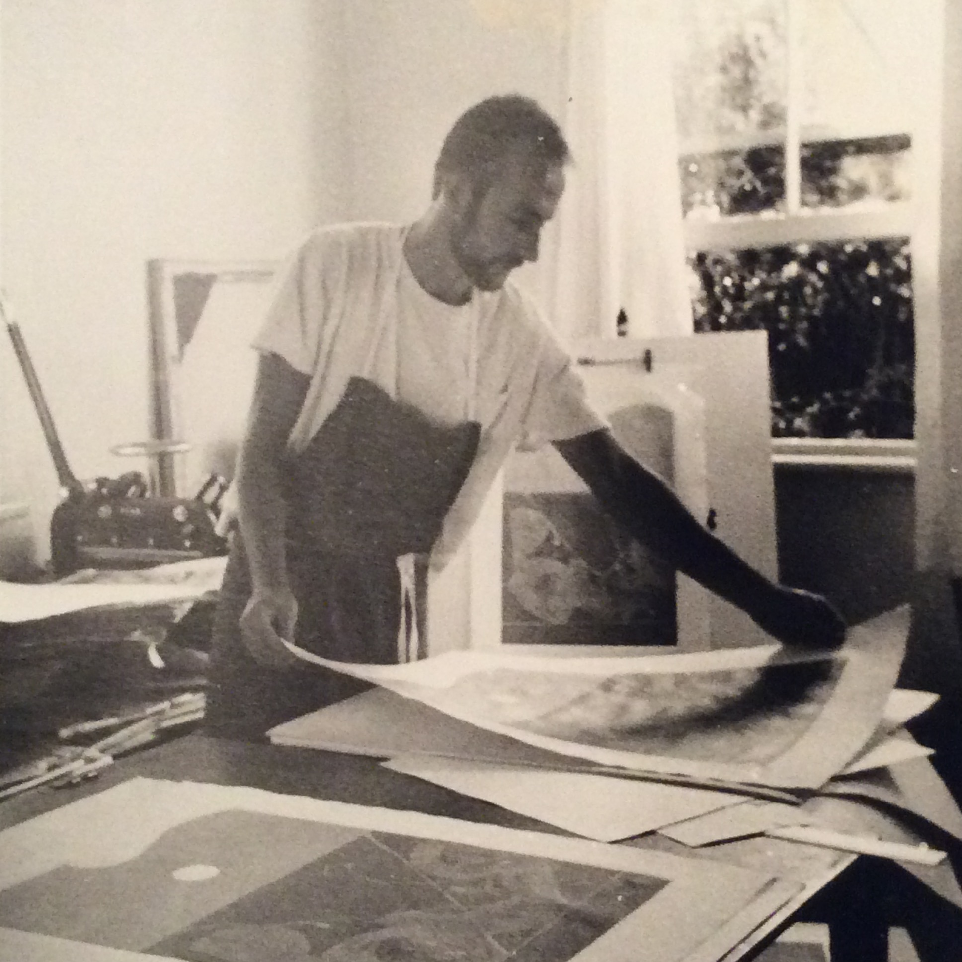 David Rose in his studio, 1968