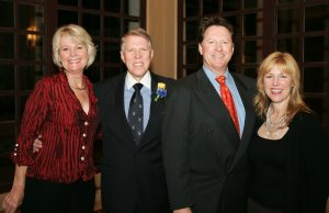 Arlen Lackey (inductee) with friends