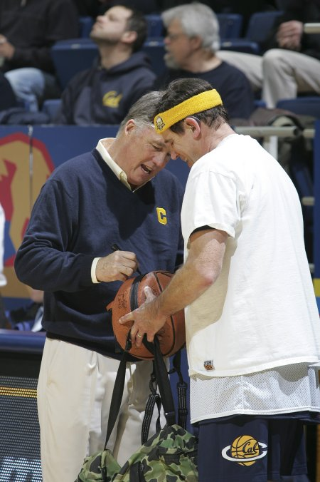 Coach Mike Montgomery signs Dan Lufkin's Basketball  Now up for sale on EBAY - minimum bid $75