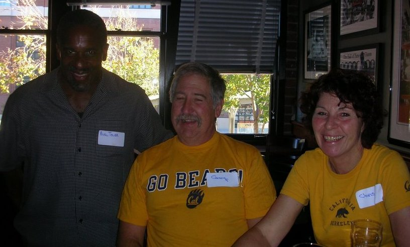 Burl Toler and a couple of CAL fans