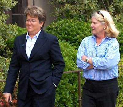 Sandy Barbour and Sue Woodward