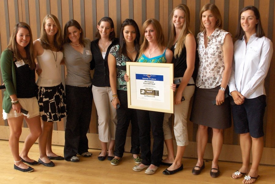 Women's Golf Team-First Recipients of The Big C Society award for 'Most Improved Team' (Grade Point Average).